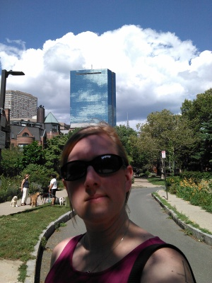 Selfie on the SW Corridor Path (August 2015)
